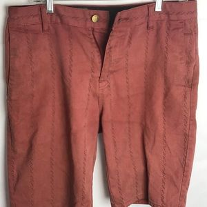 """VOLCOM flat front shorts """"brick red/brown"""" 30"""